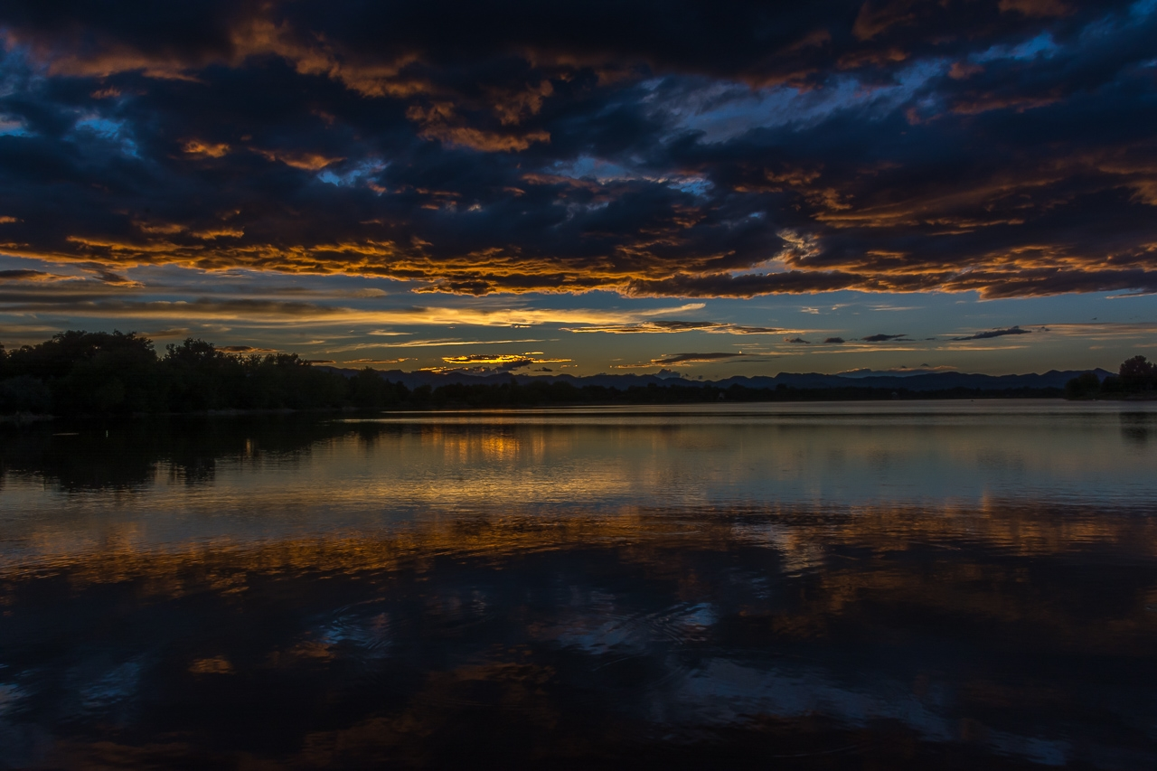 Private Lake, outside Fort Collins, Colorado.