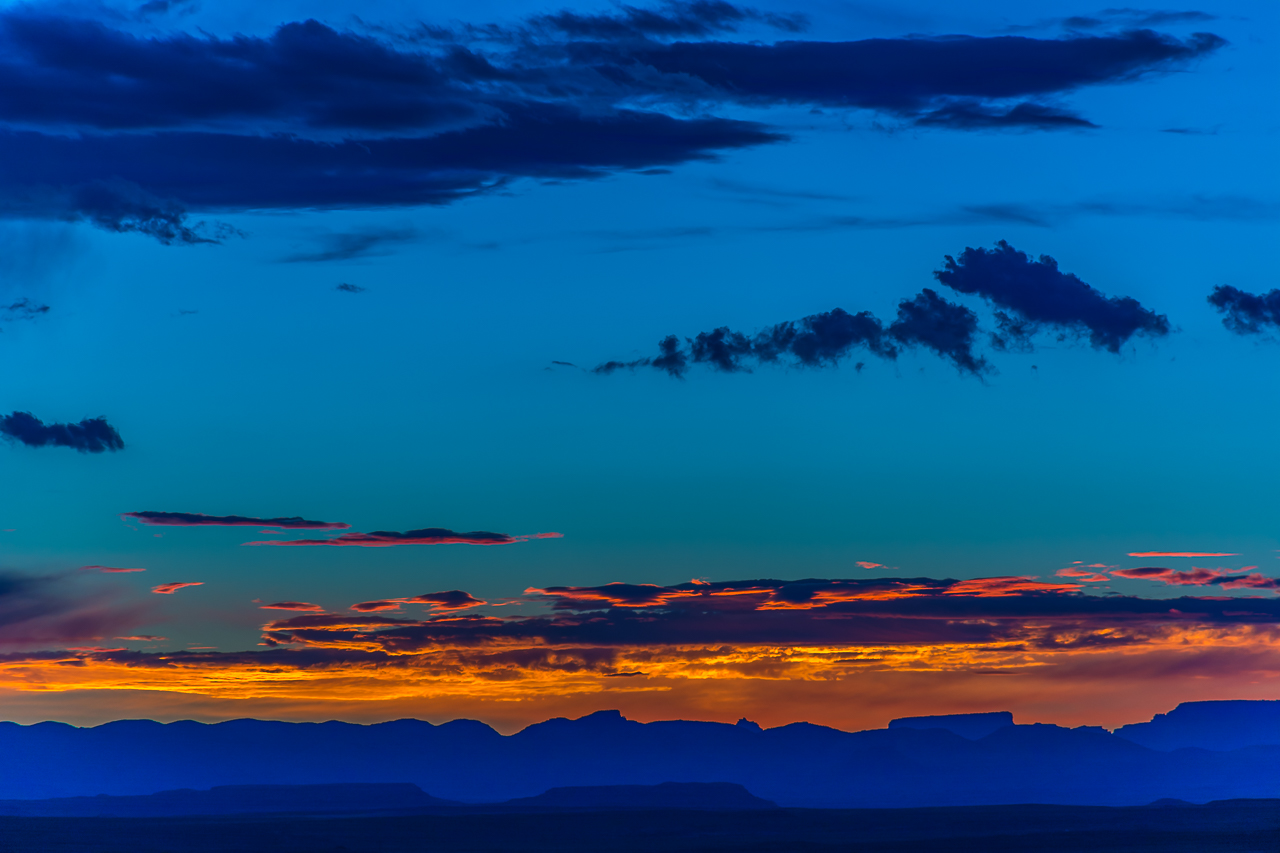 Sunset Over Grand Canyon From Navajo Nation