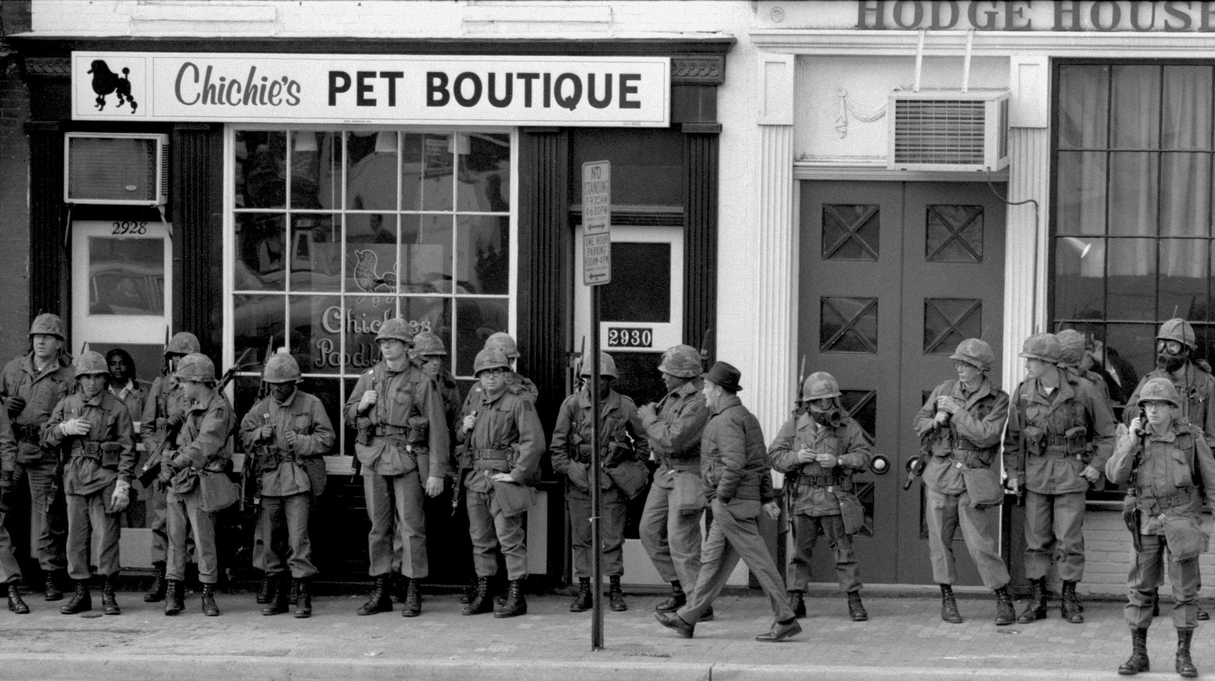 CHICHI'S PET BOUTIQUE, THE NATIONAL GUARD, & 3 CIVILIANS, Washington, D.C. (1971)