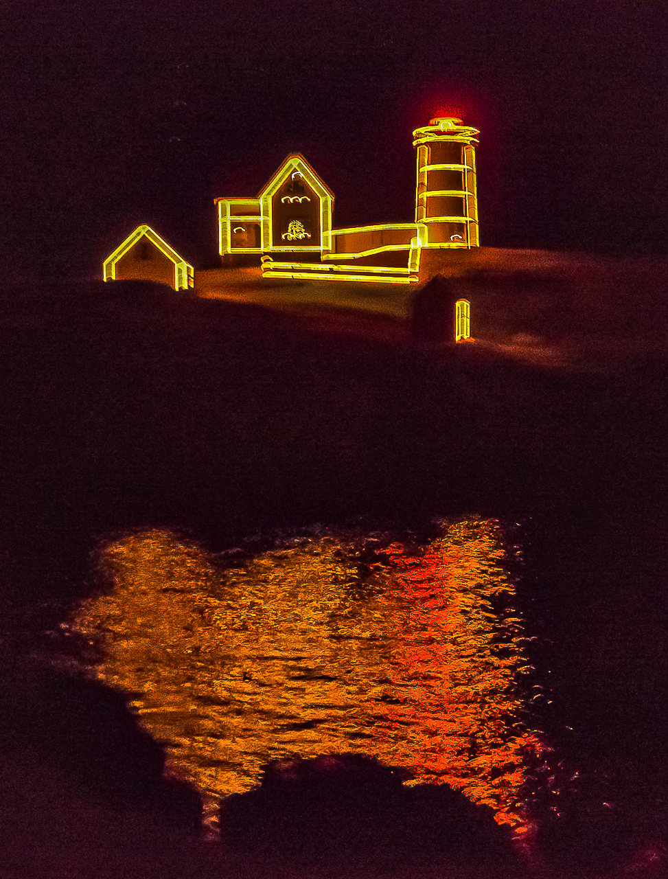 Cape Neddick Lighthouse, Maine, Christmas Night (2014)
