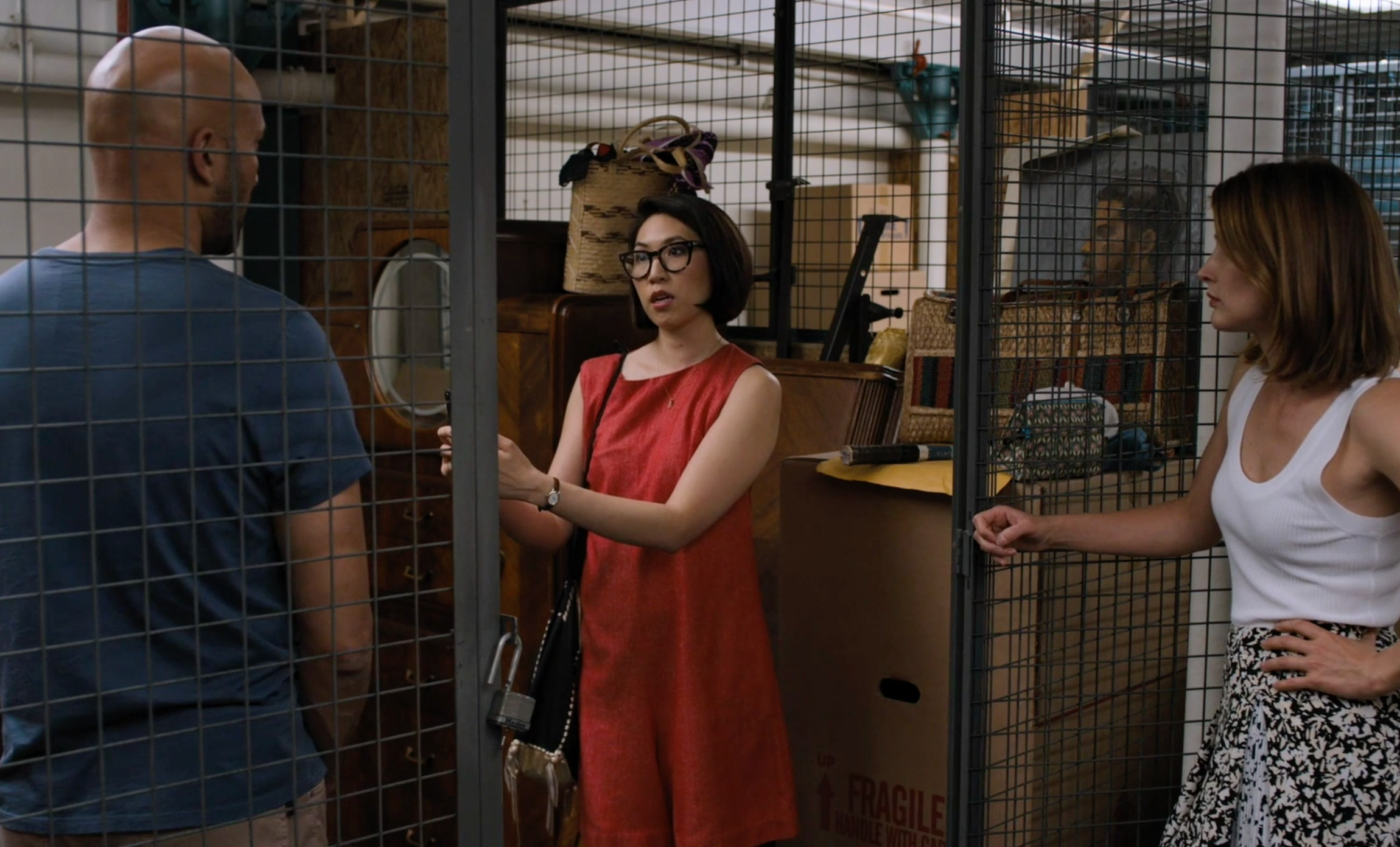 """Scene from Friends From College (""""The Storage Unit"""")."""