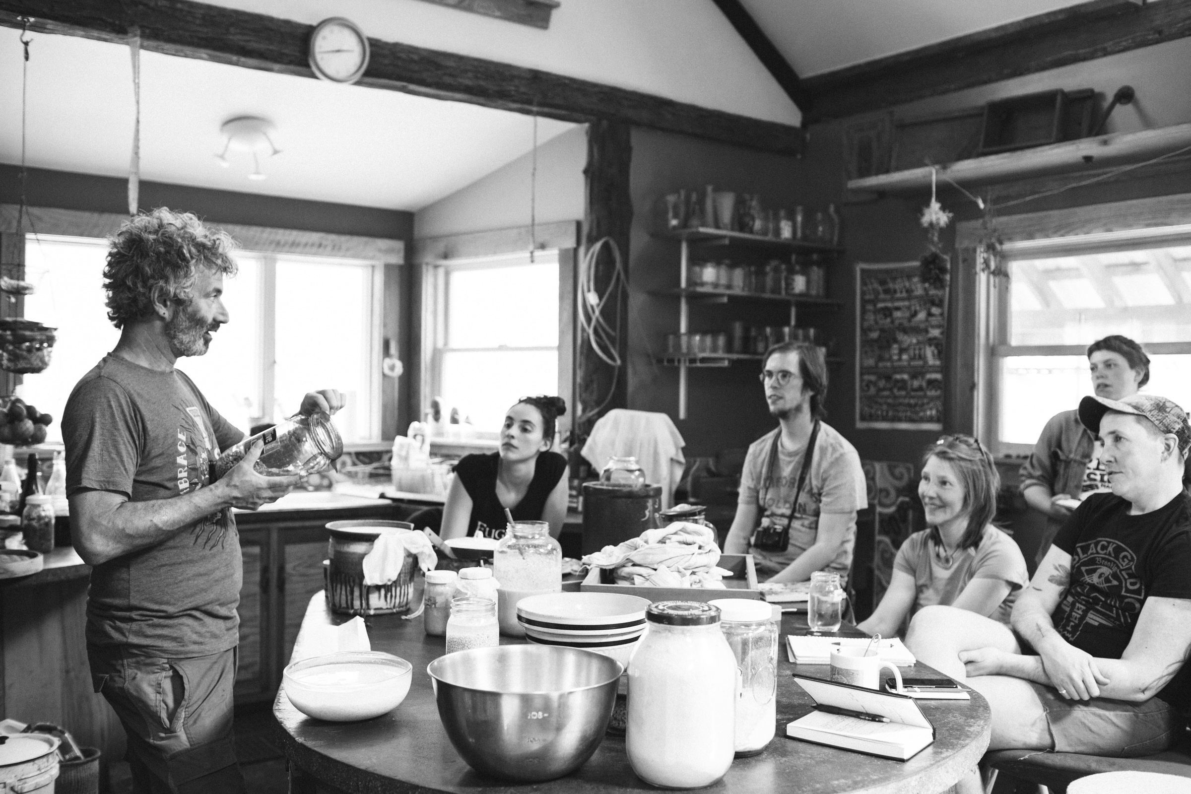 Morning lesson - Typically all lessons took place in Sandor's kitchen, where each of us took turns getting our hands messy and dirty.