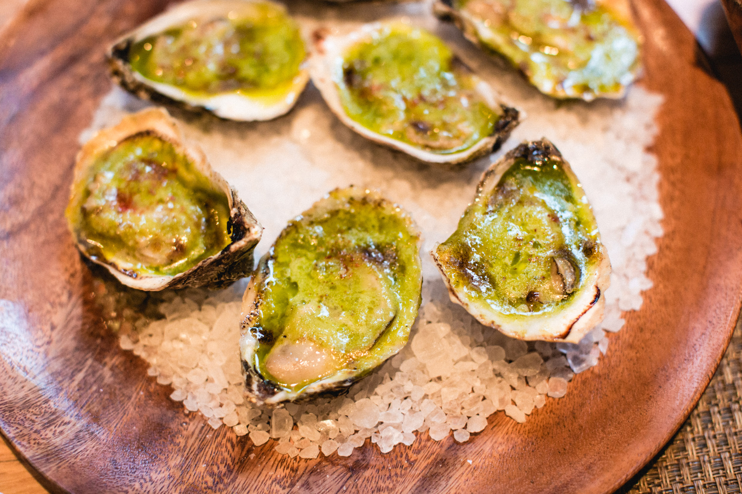 These wood-fired oysters... if I could only eat oysters one way, this would be it. I know, purists will not favor that comment.