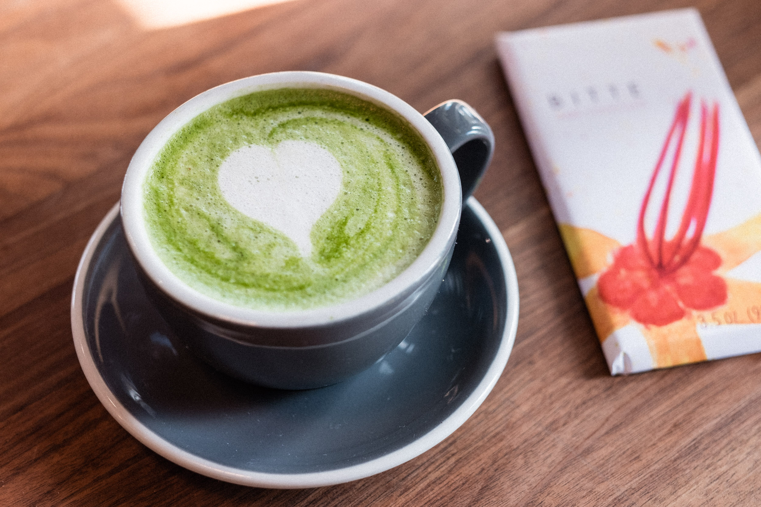 "On one of my visits, I tried their Matcha Latte. If I drink coffee as often as I'd like, my body starts complaining (headaches, anxiety, restlessness). I've been drinking Matcha for about 15 years. Now it's become a trendy item on many menus. Not all matcha is created equal, though. If you want to buy matcha to make at home on a regular basis, I would recommend carefully searching for a reputable source. To get the most (innumerable, incredible) benefits, Ceremonial Grade Matcha is ideal, if you can afford it! Otherwise Premium grade is great too. I'll spare you an essay on matcha here, so google ""Matcha Benefits"" and go down the rabbit hole as much as you please."