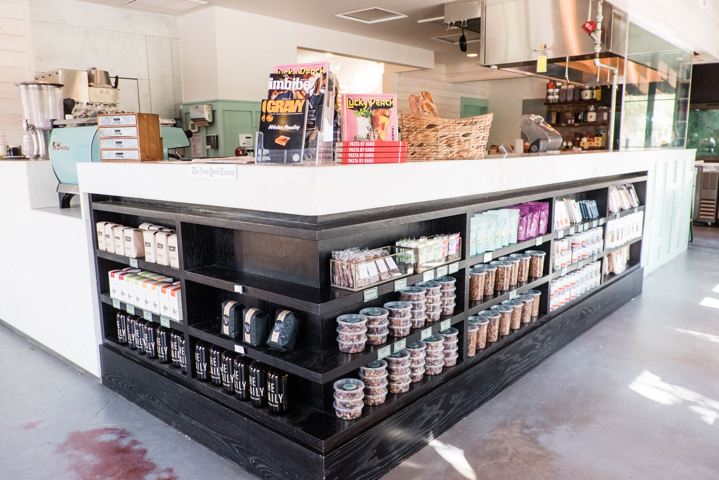 If I lived in Charleston, I'd live inside  The Daily . The local goods sold range from chocolate bars, to fresh bites, farm produce, honey and syrups, hummus, local milk, eggs, quality take-away fresh-pressed juices and fresh meals... A dream, especially if you're staying at an AirBnb and want to feed your lonely fridge a few things (cause you're probably eating out 90% of the time). Also, to note, the delicious pastries and bread are all baked fresh on site.