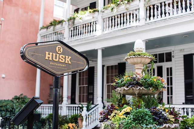 Fountains filled with plants... herbs, kale, edible flowers. Love the idea. ⛲️🌿🌸 Check out profile link for a little edible tour of Charleston including #huskrestaurant