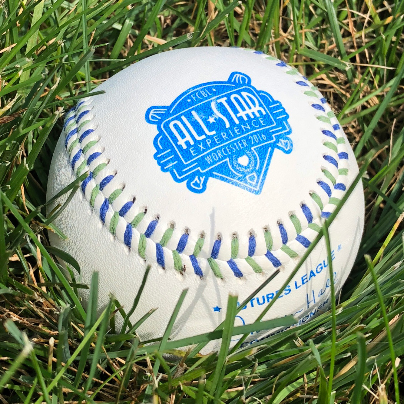 The first time I had a logo on a baseball, even custom stitching!