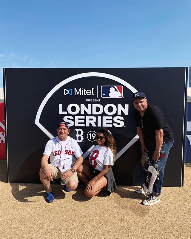 Enjoying the #londonseries with family and friends ⚾️ Let's go Red Sox 🔥