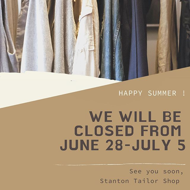 Hello everyone 👋🏼 we will be reopening the store on Saturday, July 6th ☀️ Hope to see you soon!