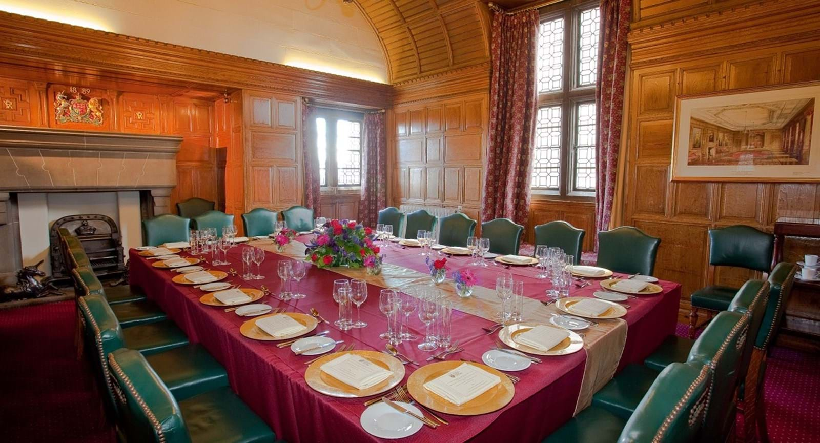A three-course set dinner with wine in the intimate 19th Century Castle Gatehouse
