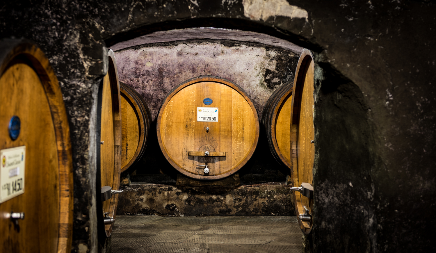Italy : Tuscany : In the cellar at Badia a Coltibuono