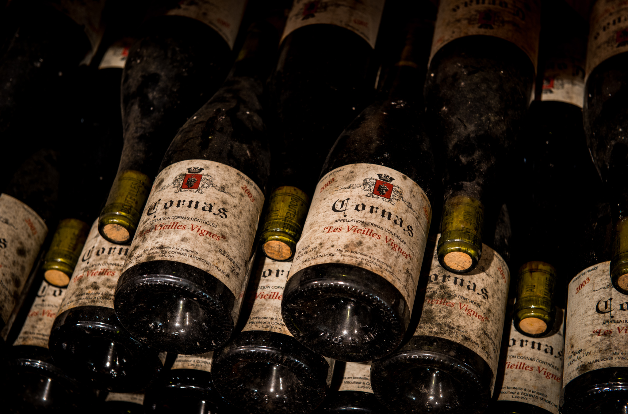 France : Northern Rhone : In the cellar at Alain Voge