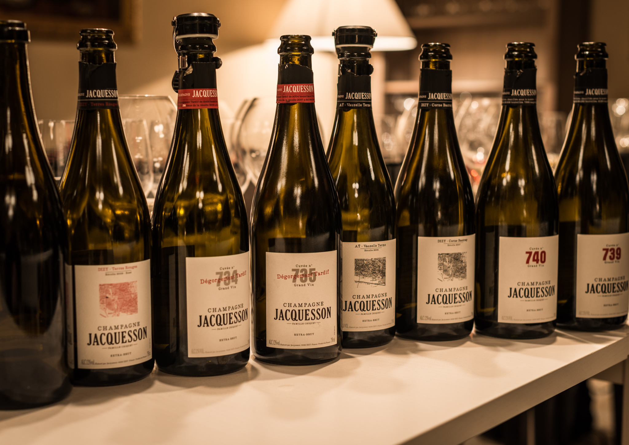 France : Champagne : Tasting through the impressive lineup at Jacquesson