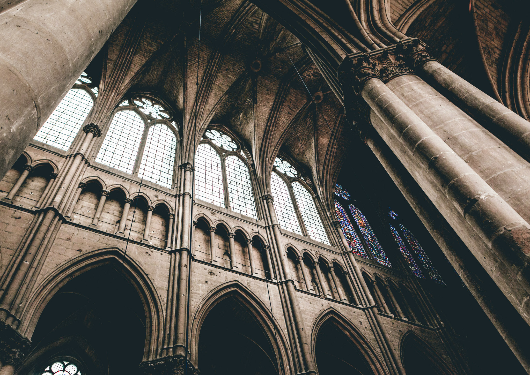 France : Champagne : Cathedral in Reims
