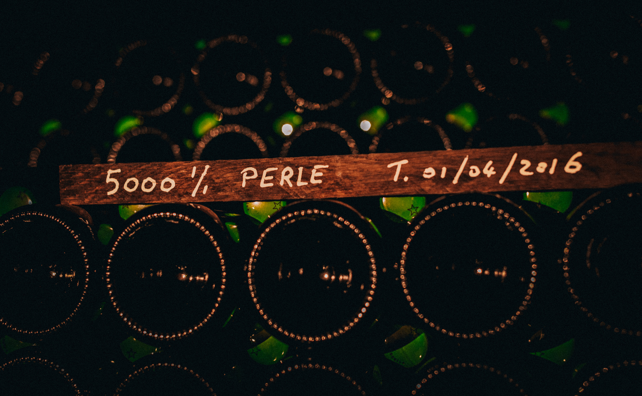 France : Champagne : In the cellar at Lilbert in Cramant