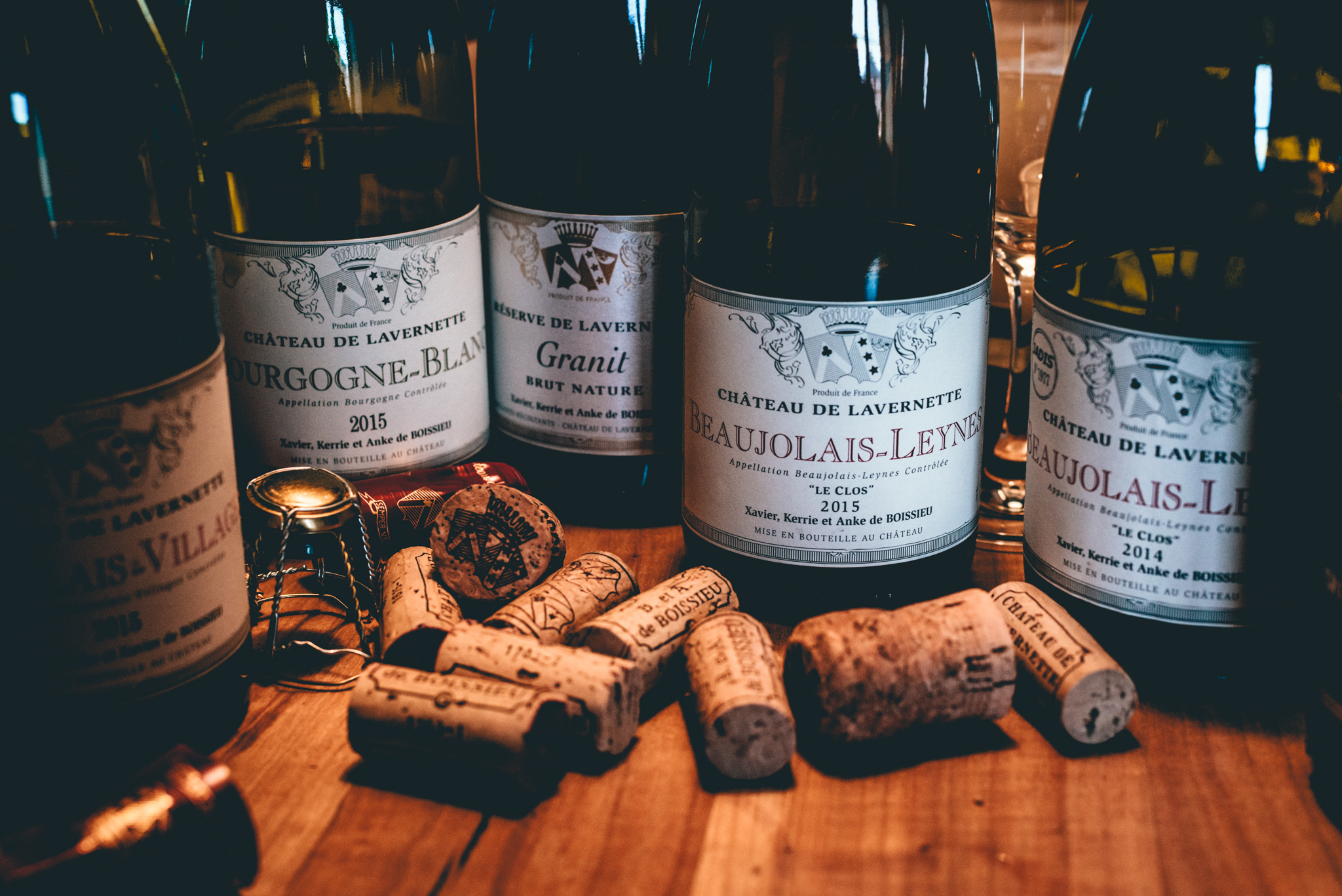 France : Beaujolais : Tasting at Chateau de Lavernette in Leynes