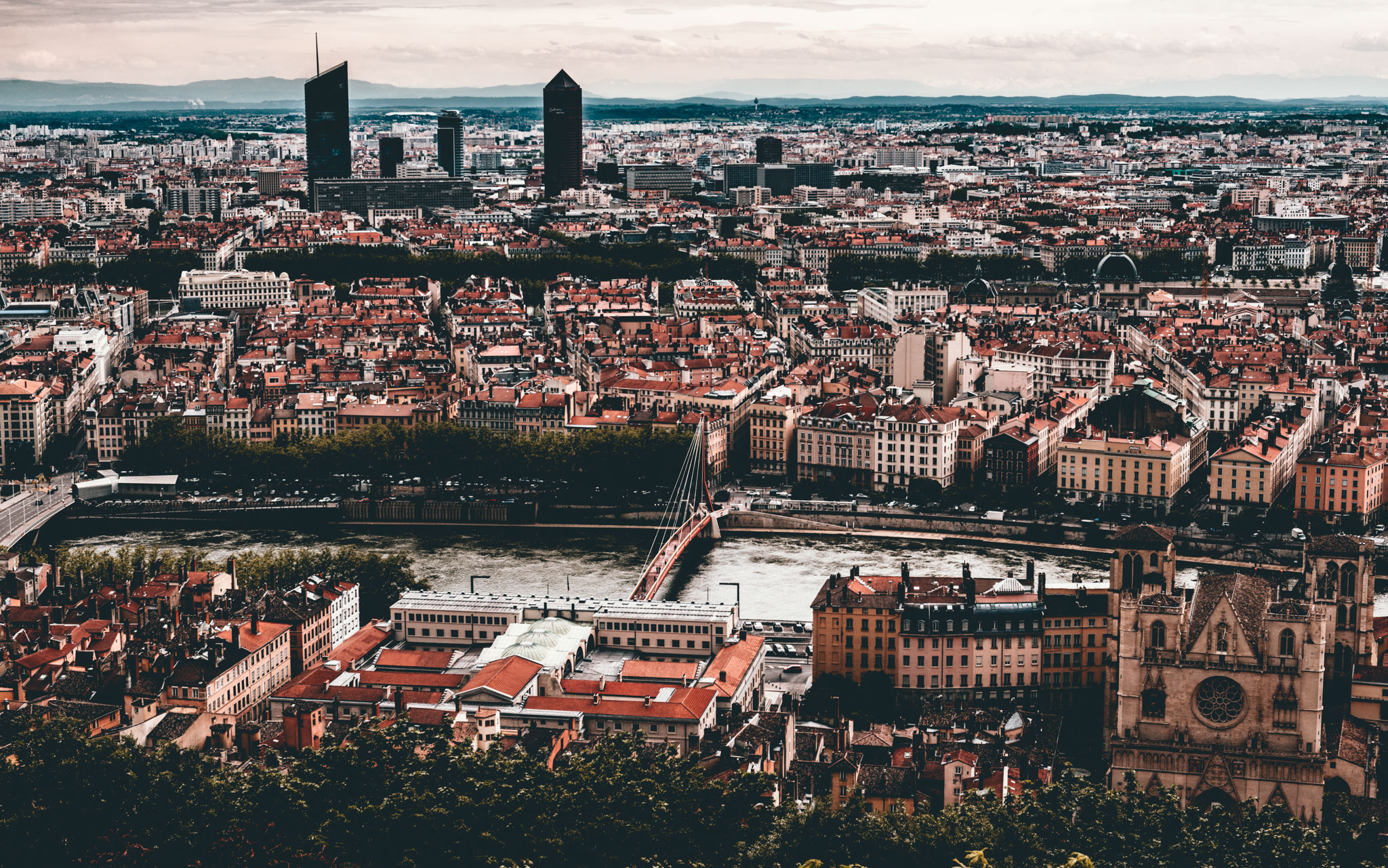 France : Lyon : High above the city