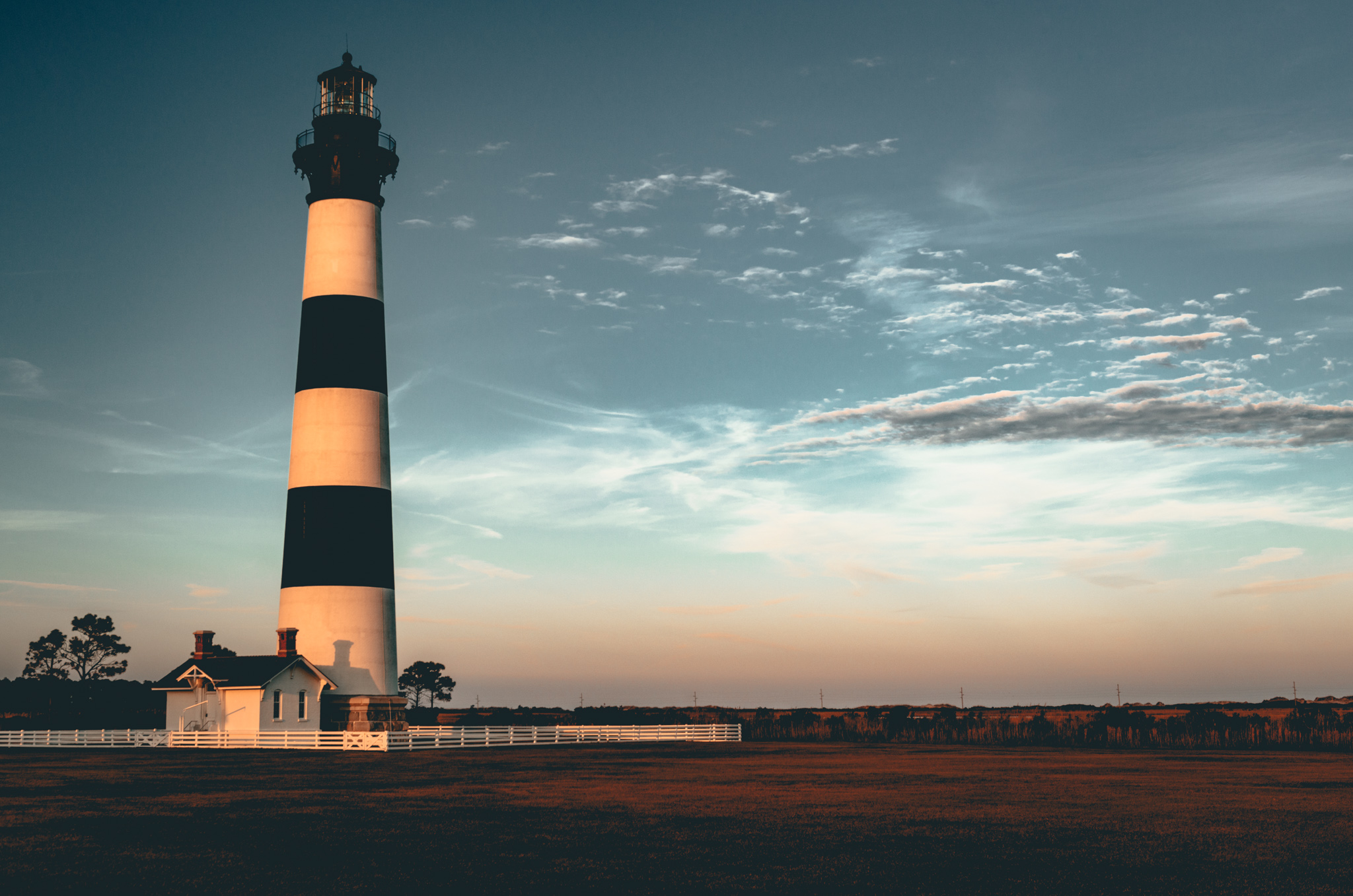 North Carolina : Outer Banks : Nags Head : Bodie Island lighthouse