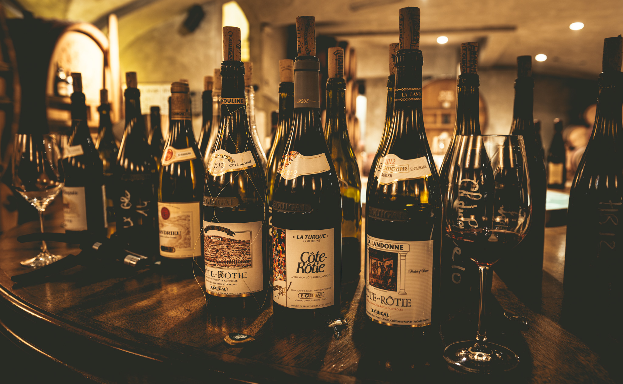 France : Northern Rhone : Reference point wines at Guigal