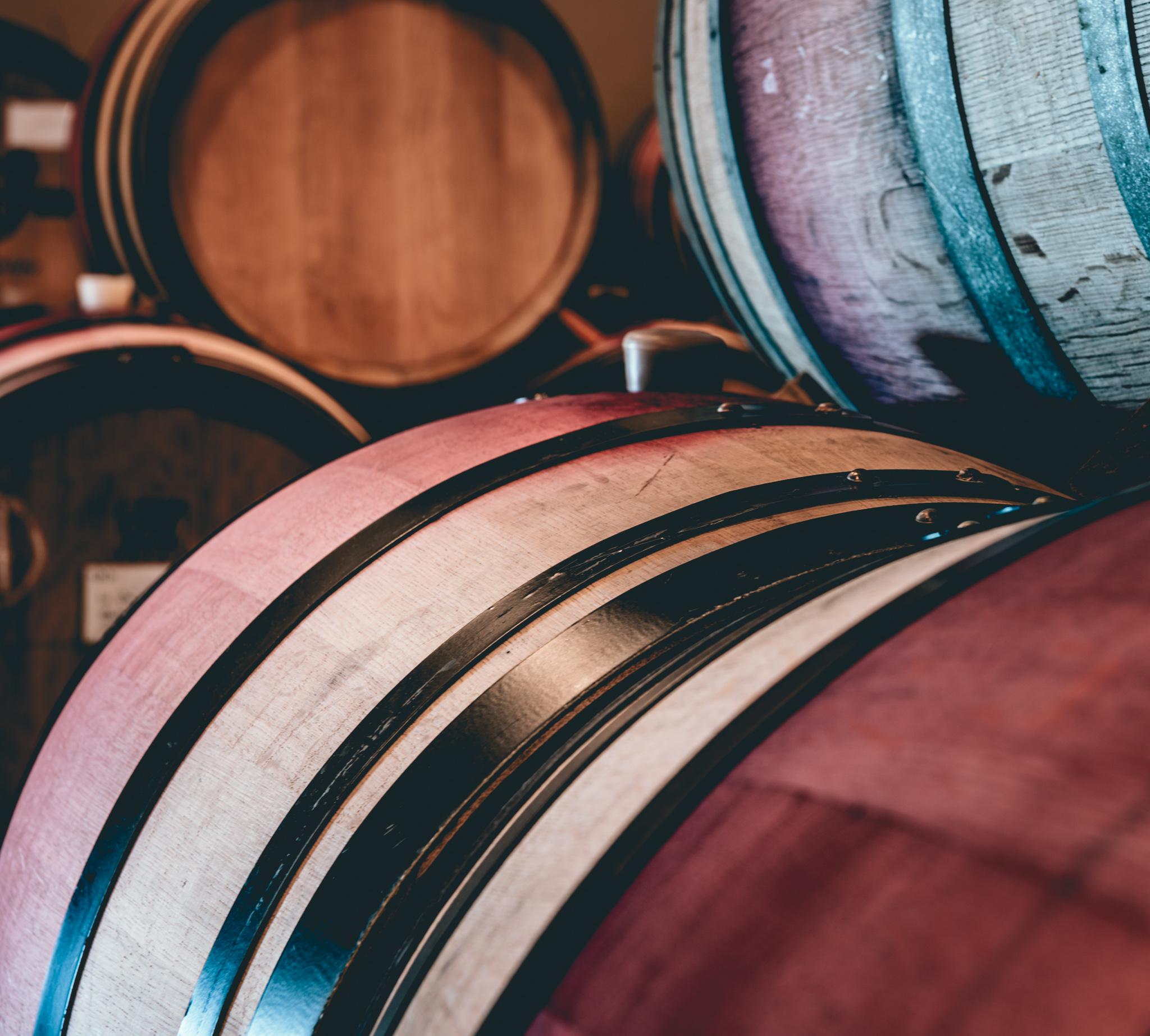 US : Oregon : Barrels at Bergstrom