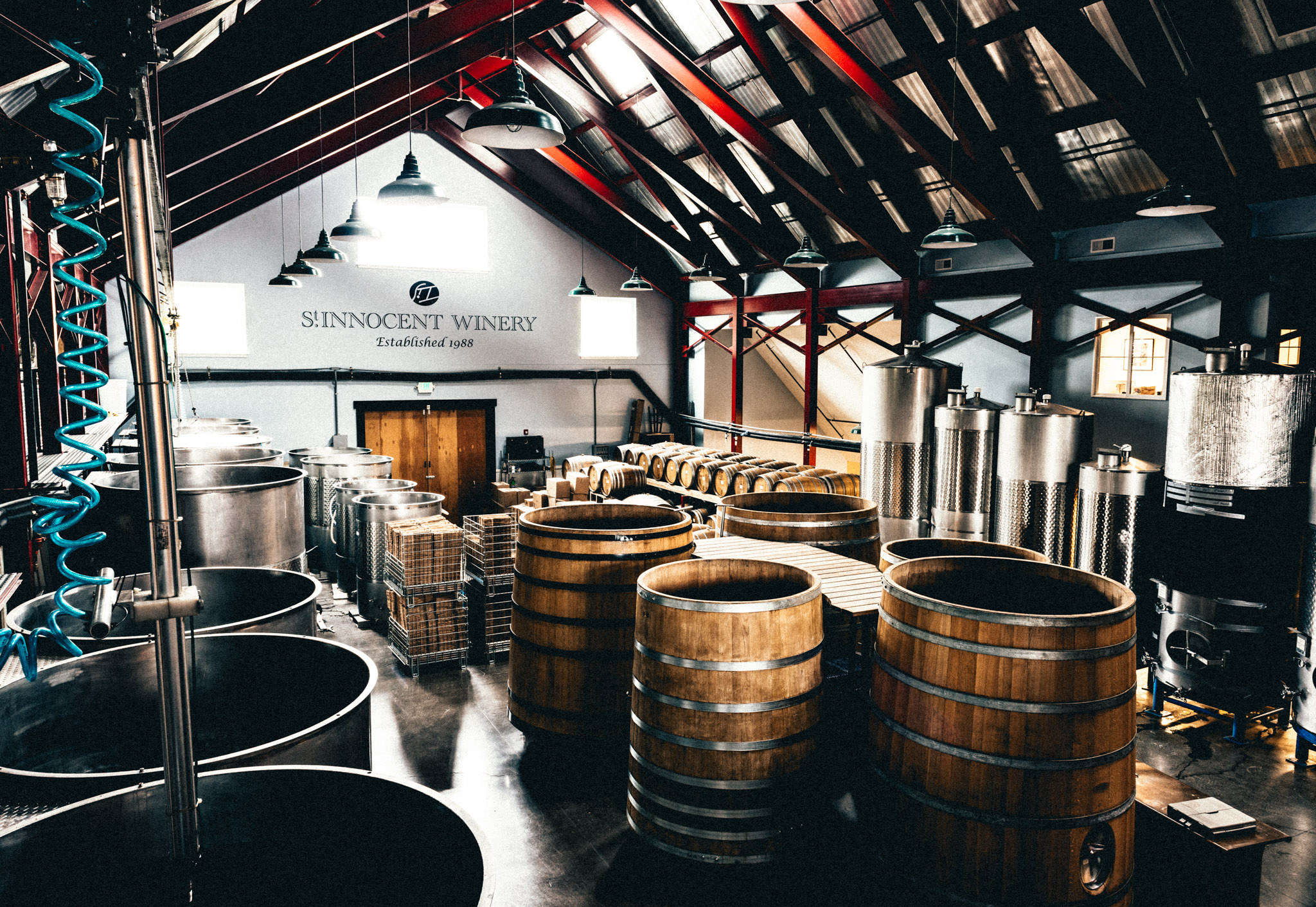 US : Oregon : St. Innocent's winery in the Eola-Amity Hills