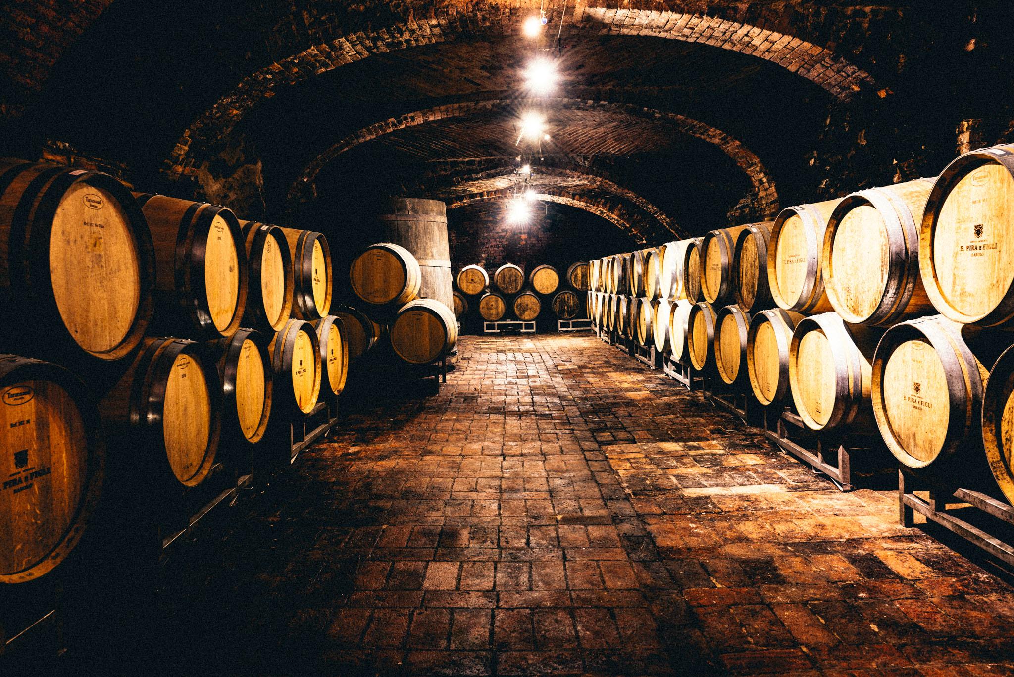 Italy : Piedmont : Chiari Boschis' cellar