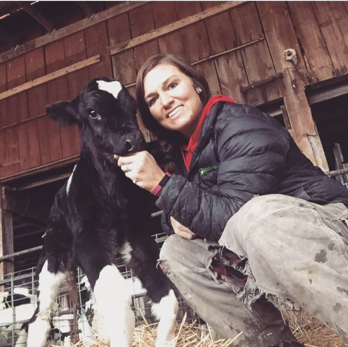 Melissa Downerd of Burns Farms, which produces both beef and dairy.