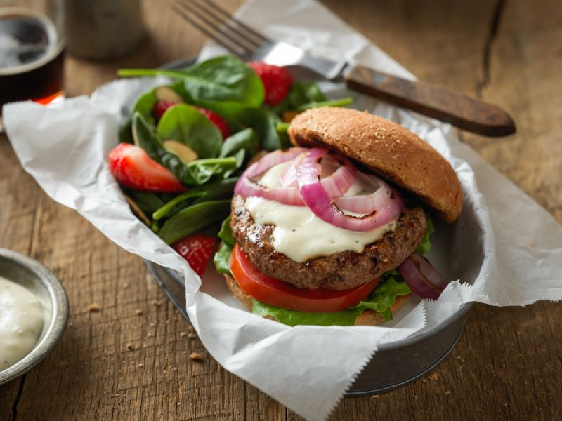 Get the recipe for these lean beef ranch burgers at  beefitswhatsfordinner.com !