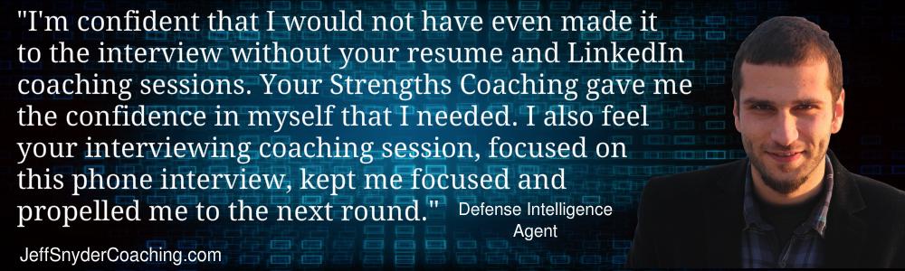 Career Transition Coaching Testimonial