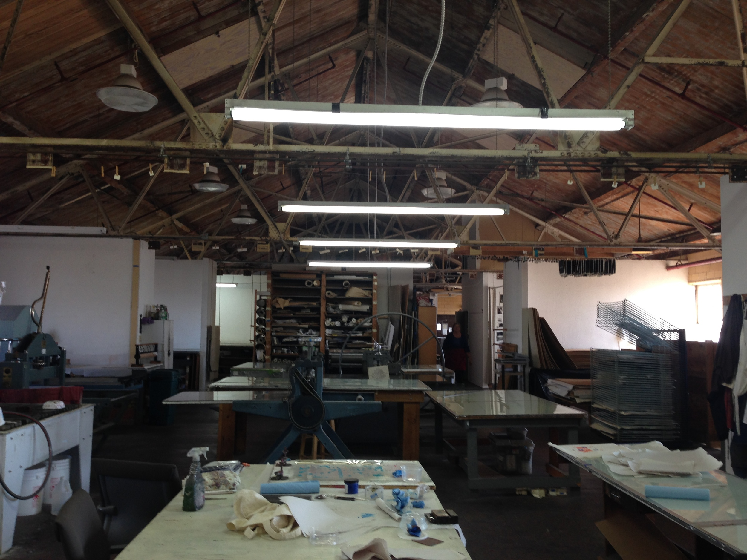 View of Kala's printmaking studio