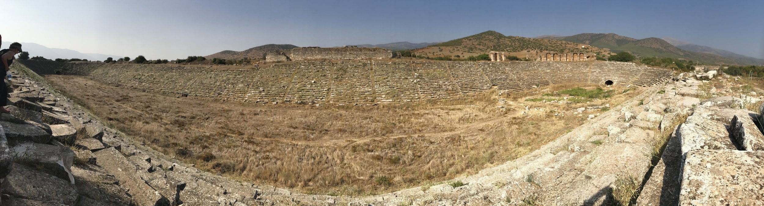 Panoramic vista of a ruin. Miles of ancient cities.