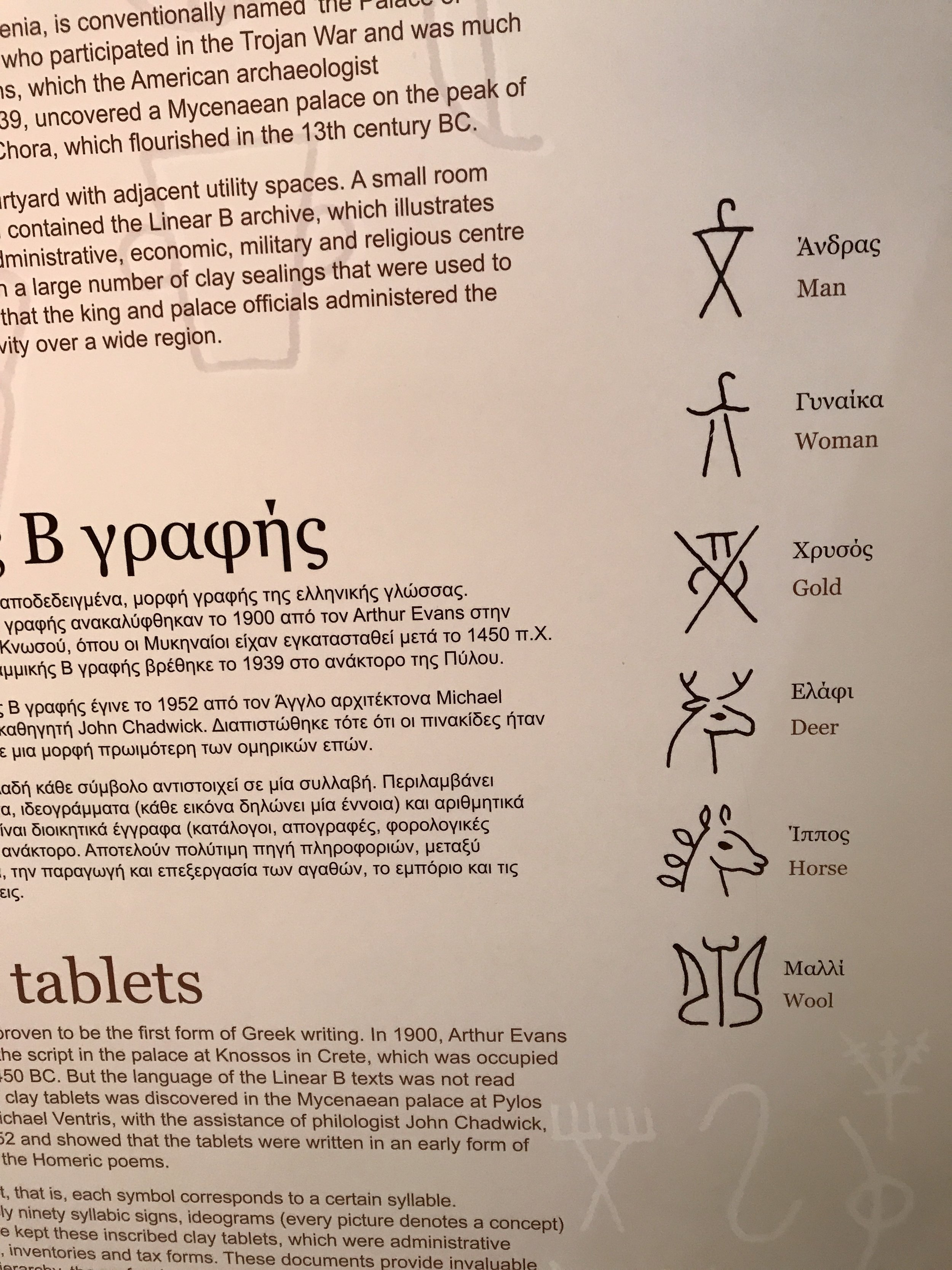 Symbols in earliest languages, some charming, some hard to understand.
