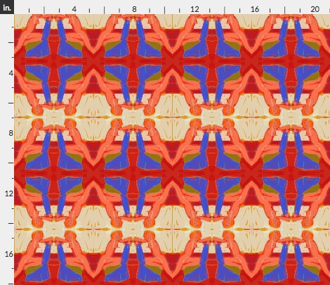 An image from my design studio. I made this pattern into wrapping paper but not fabric (yet). From my Red, White, and Blue series.