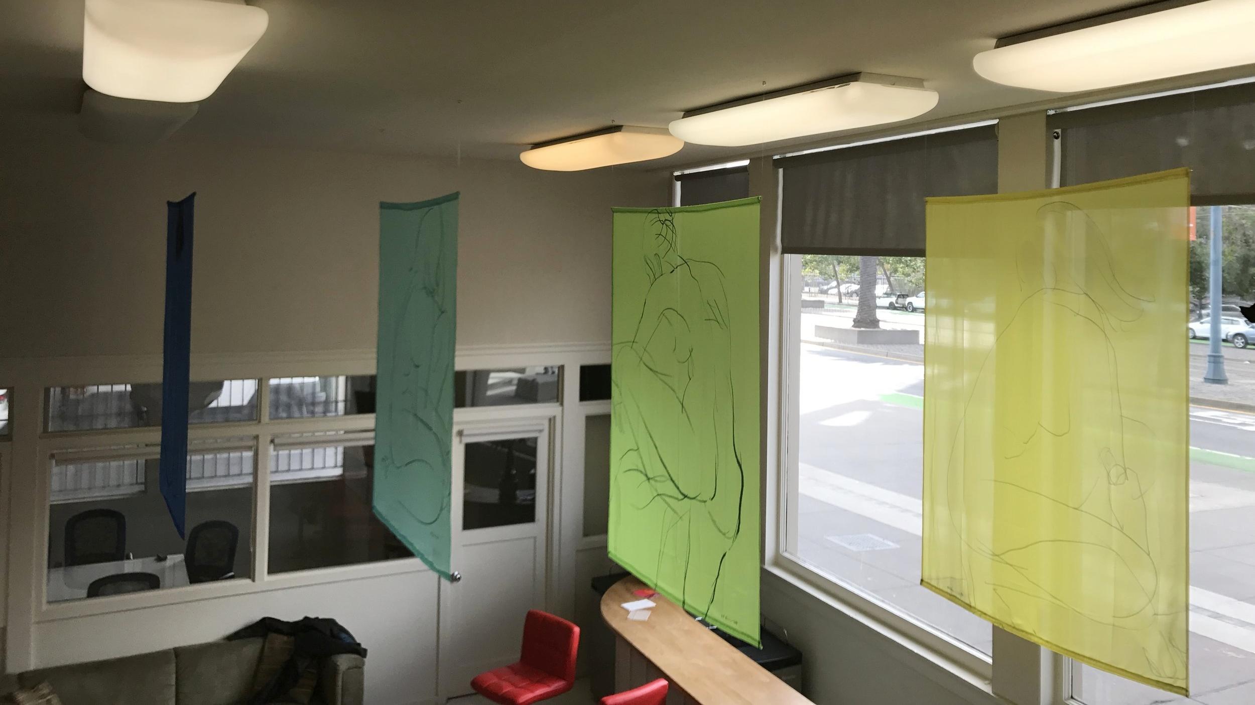 Banderas Series (5): Site-specific installation - gestural flags