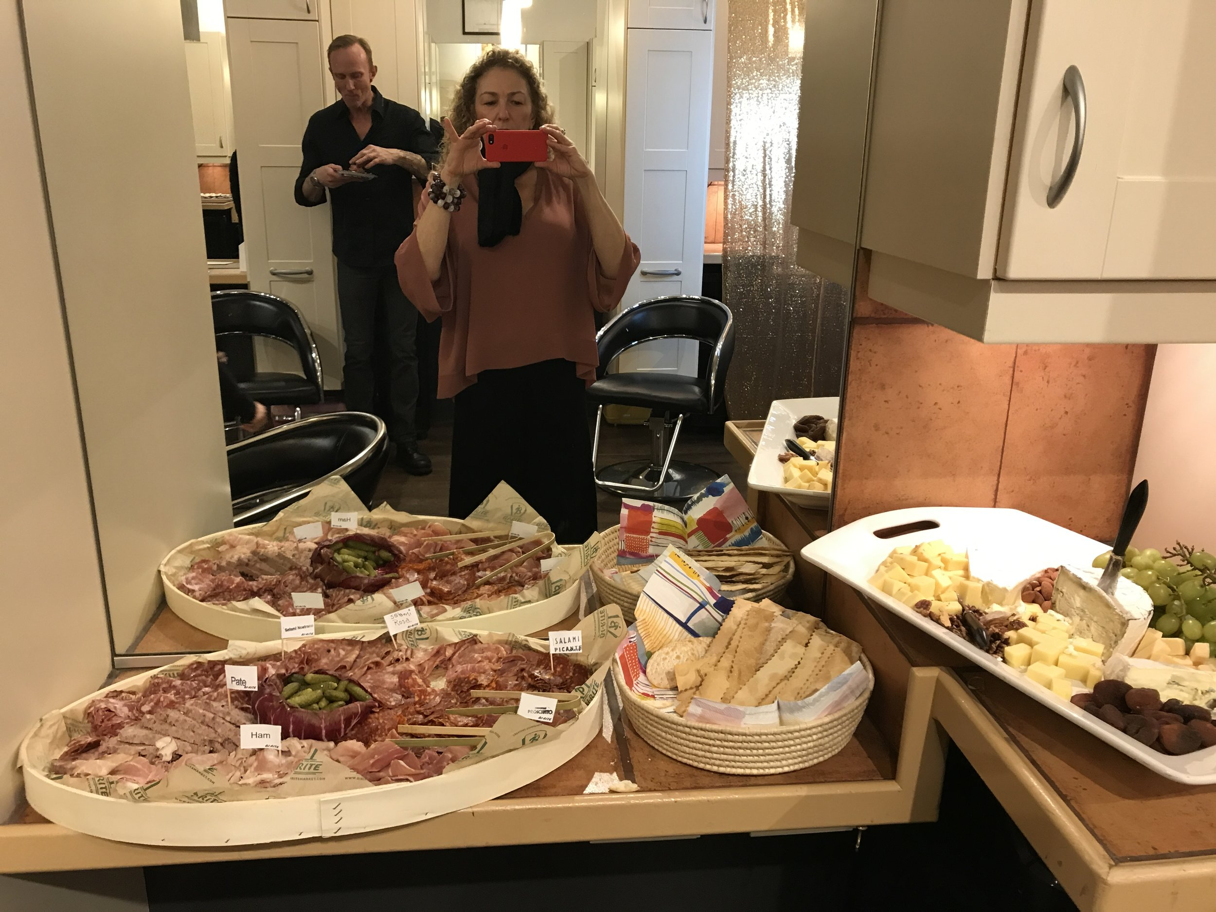 Some of the delicious food at the salon reception.