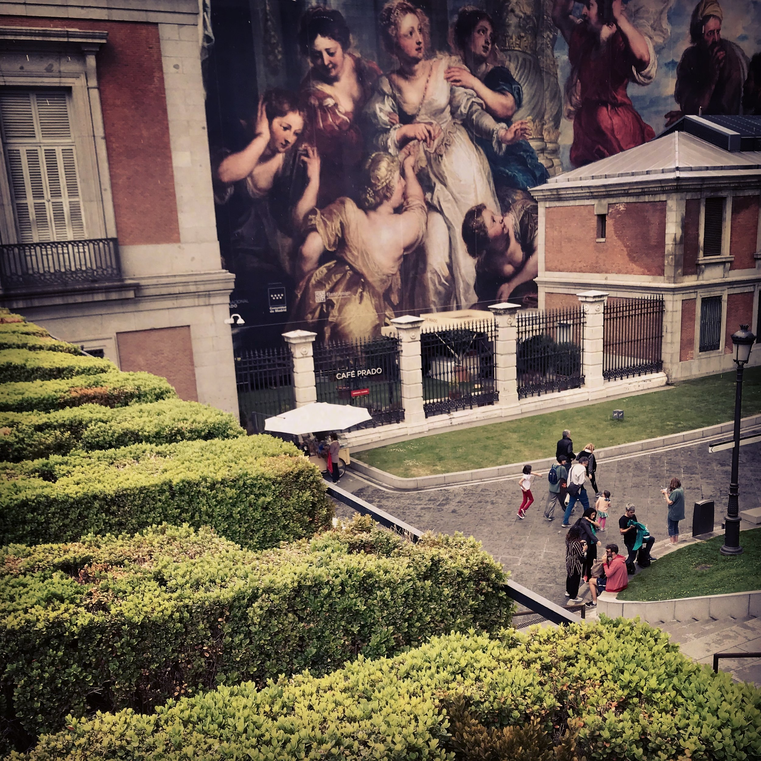 View of the Prado from above.