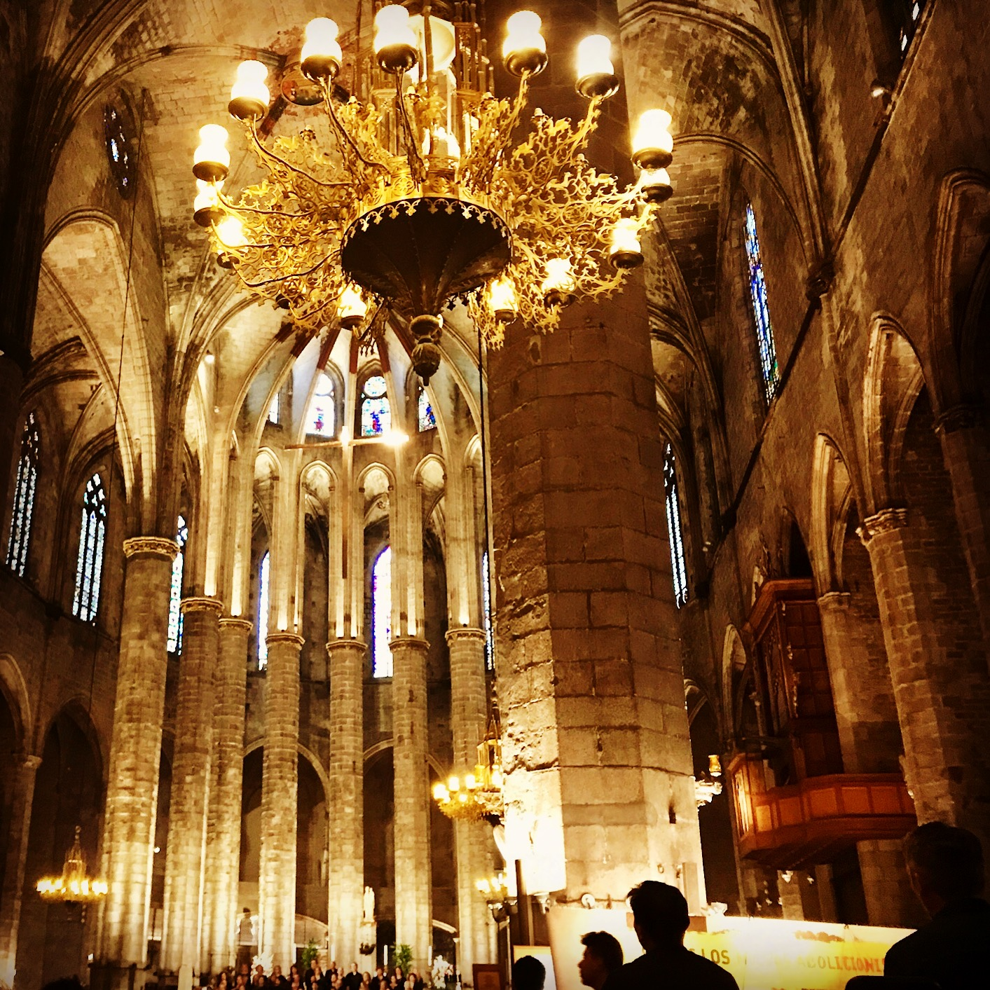We listened to a free concert at this graceful church in Barcelona.