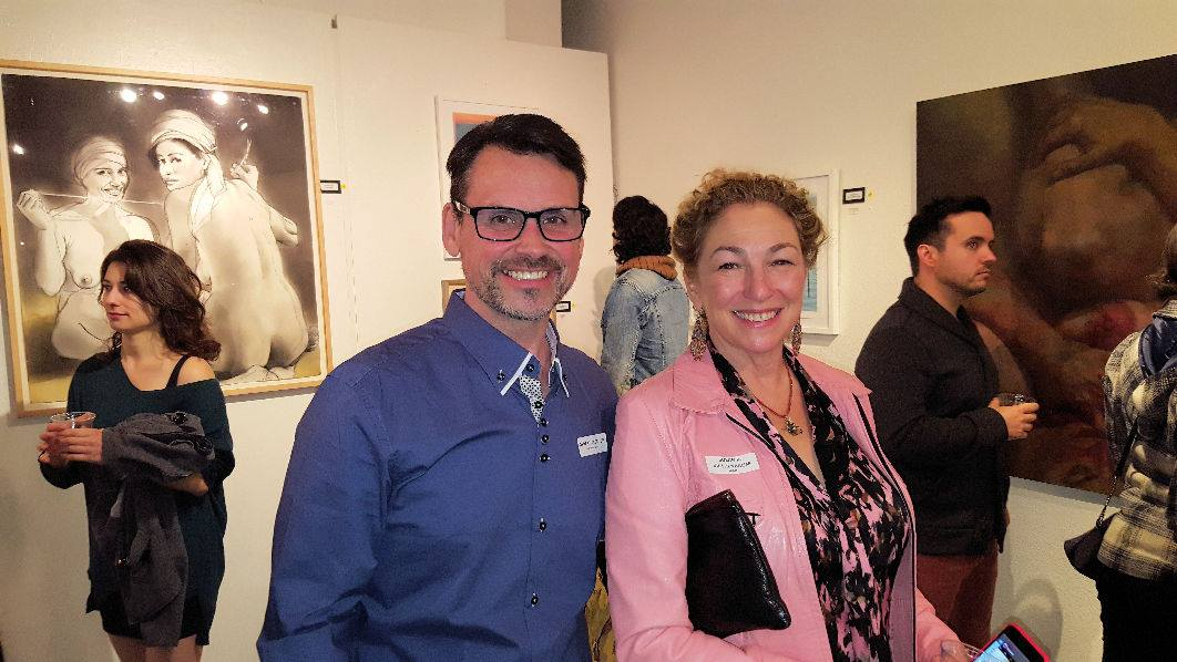 Reception with the gallery manager, Derek Hargrove
