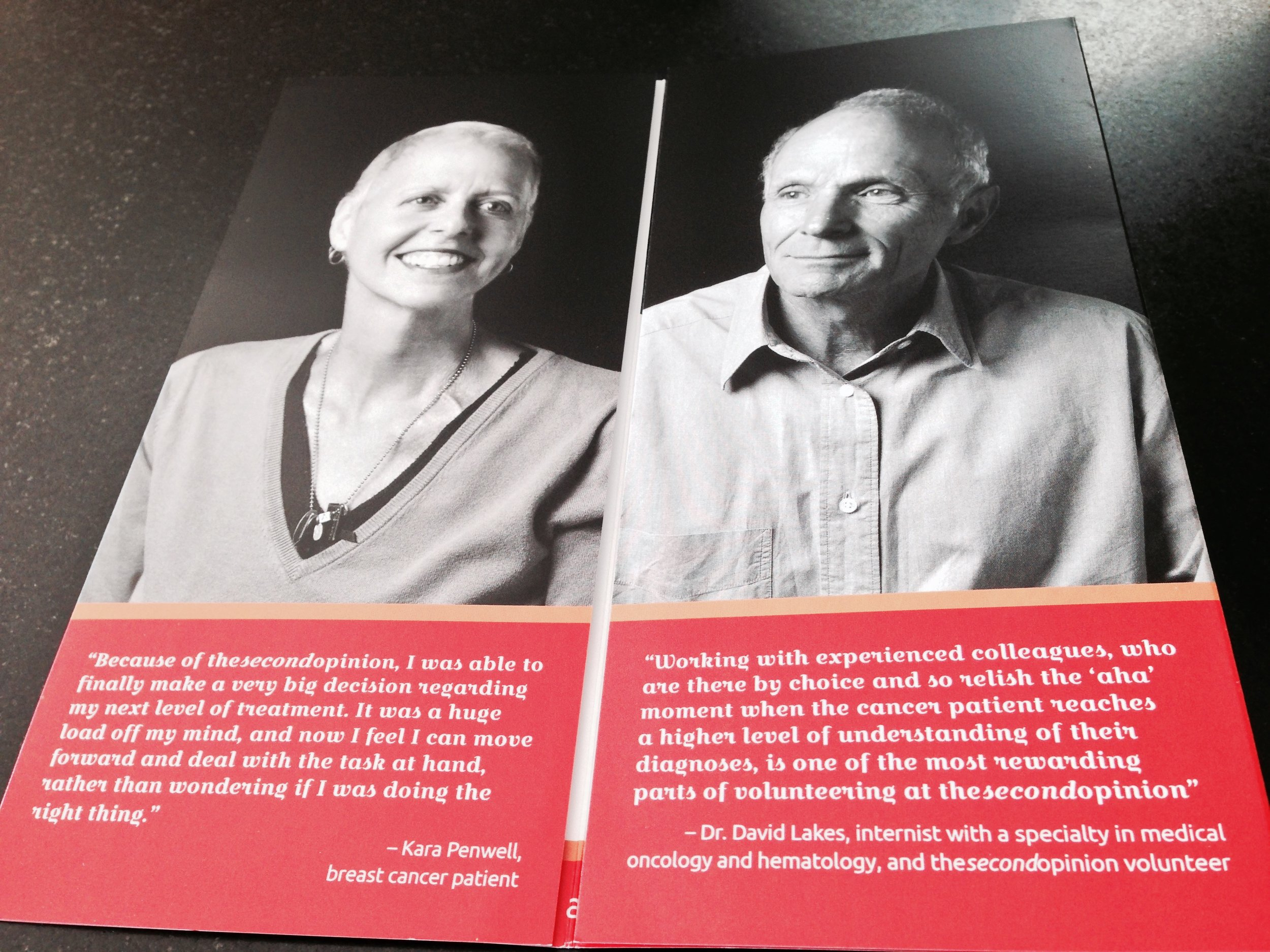 Here's a spread from their annual report we created along with portraits and video (by Dave Papas).