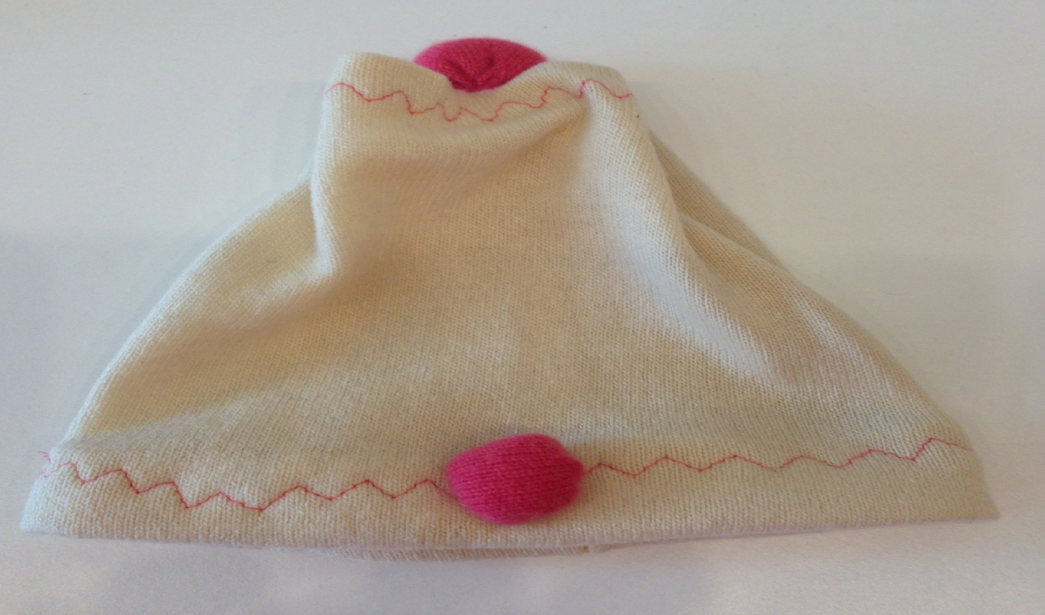 Upcycled baby hat- one of a kind - made from cashmere scraps.