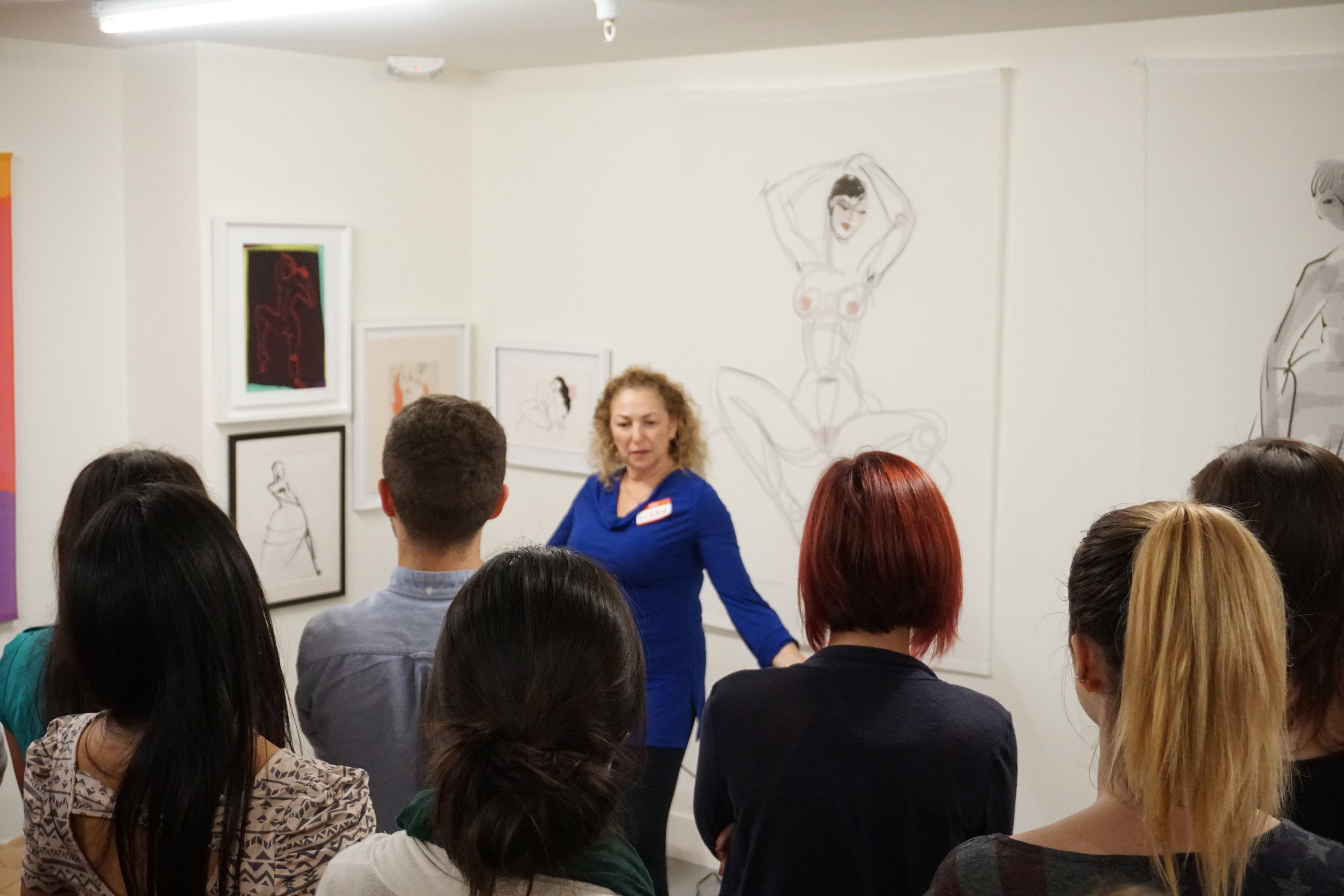 An art talk at The Laundry in 2016
