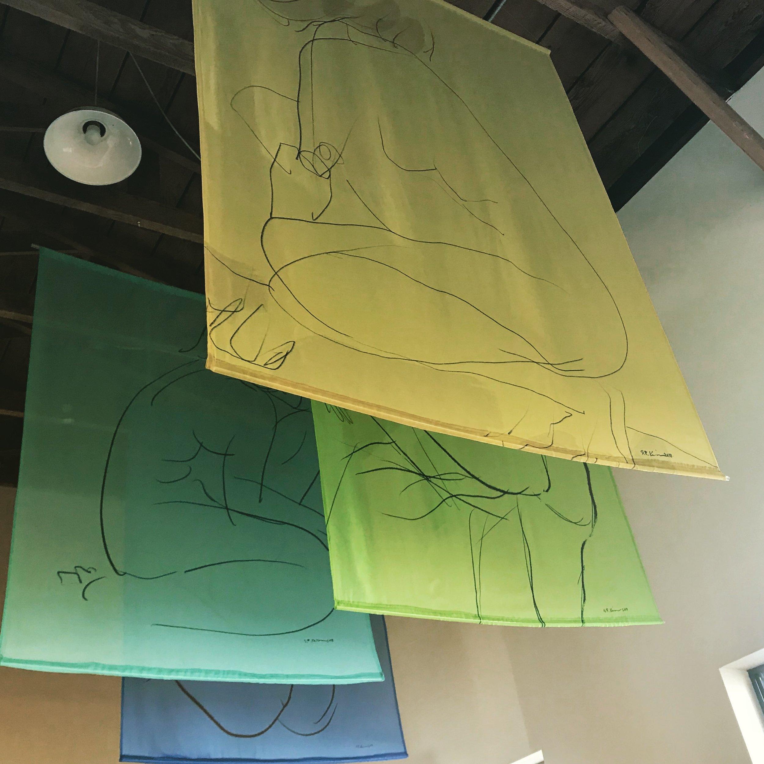 """Banderas"" Series at Radian Gallery Sept. 2018 (SF)"