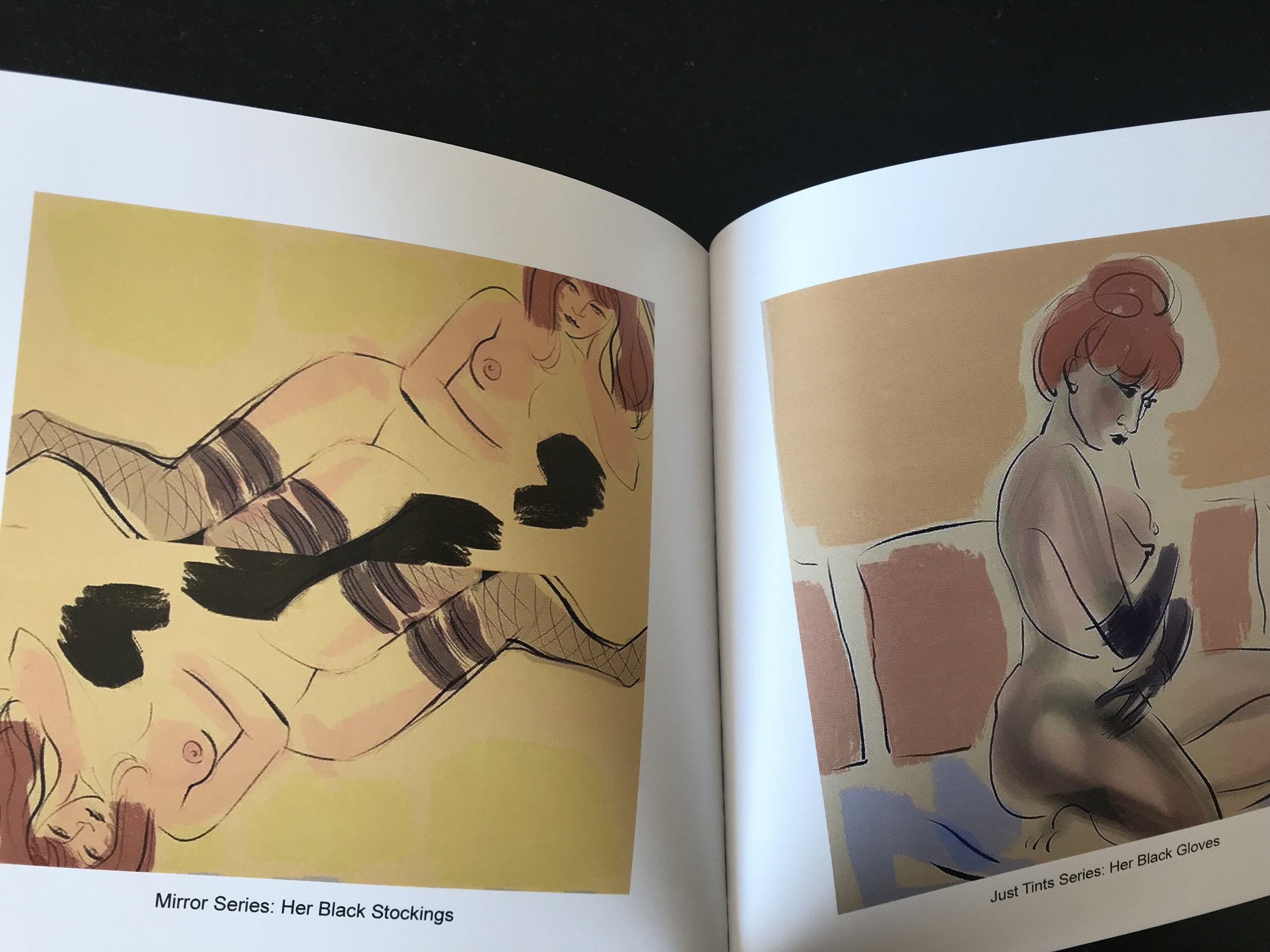 Inside sample spread of new book