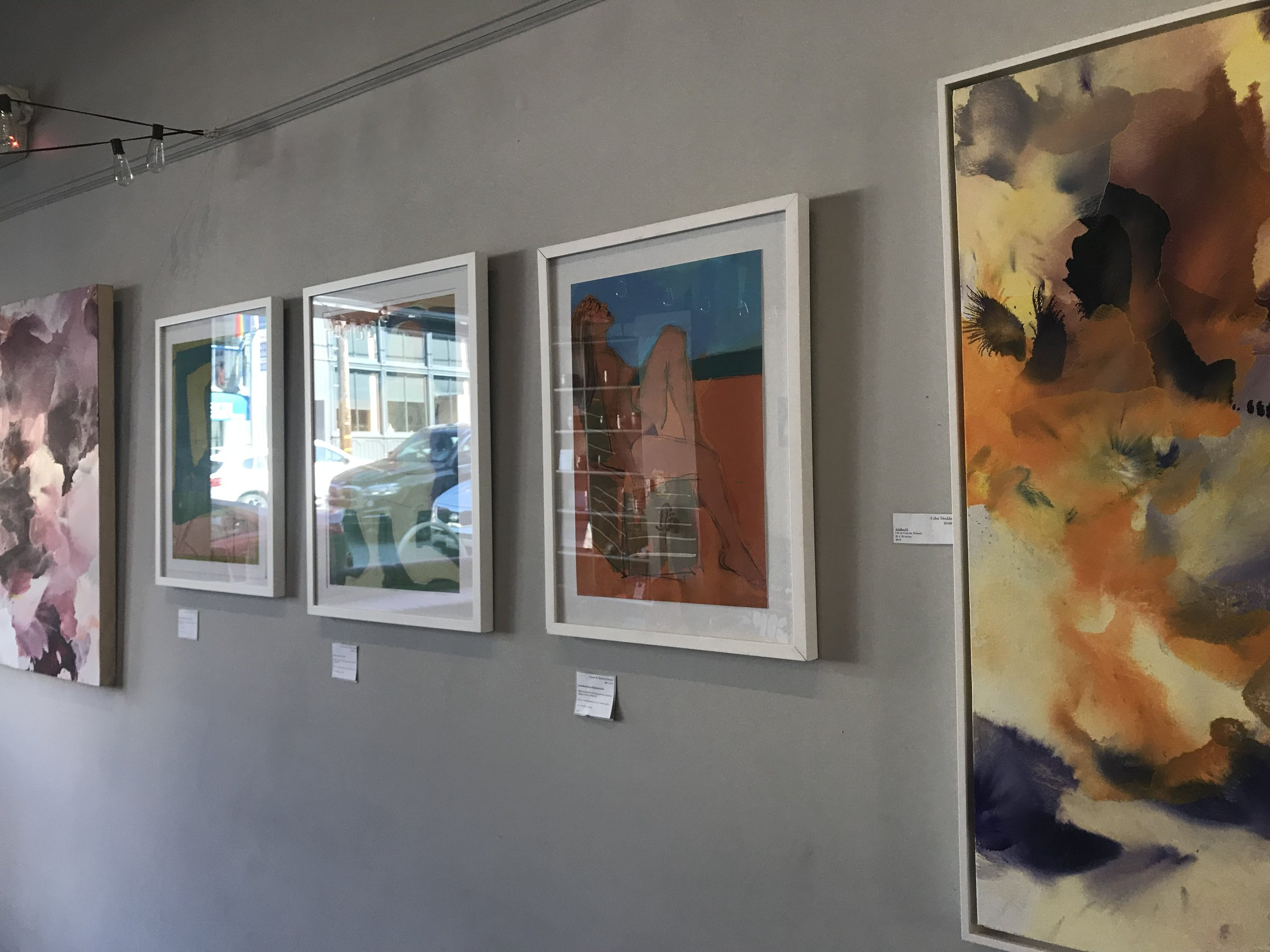 Natural light in the Spark Arts Gallery