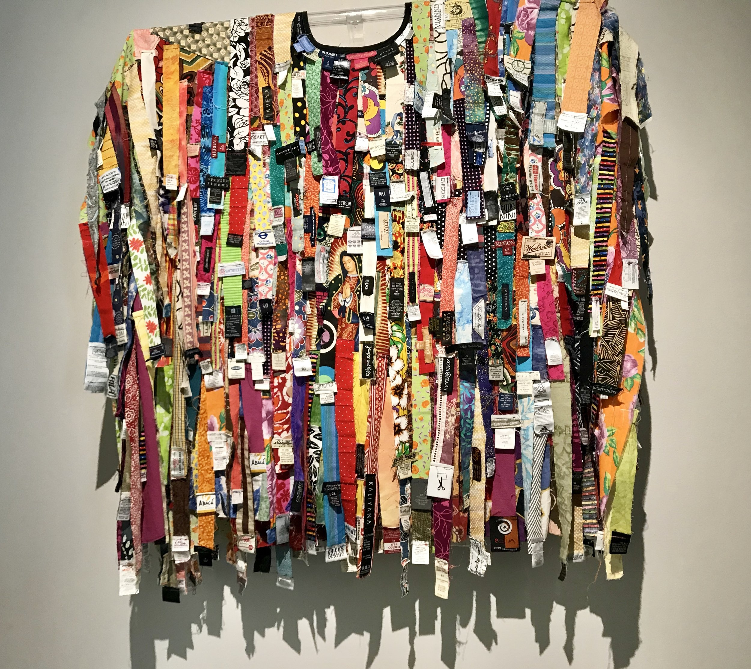 Contemporary yet so tribal in feel…All made of labels! This piece was a fav of mine in the Museum of Crafts in Mexico City.