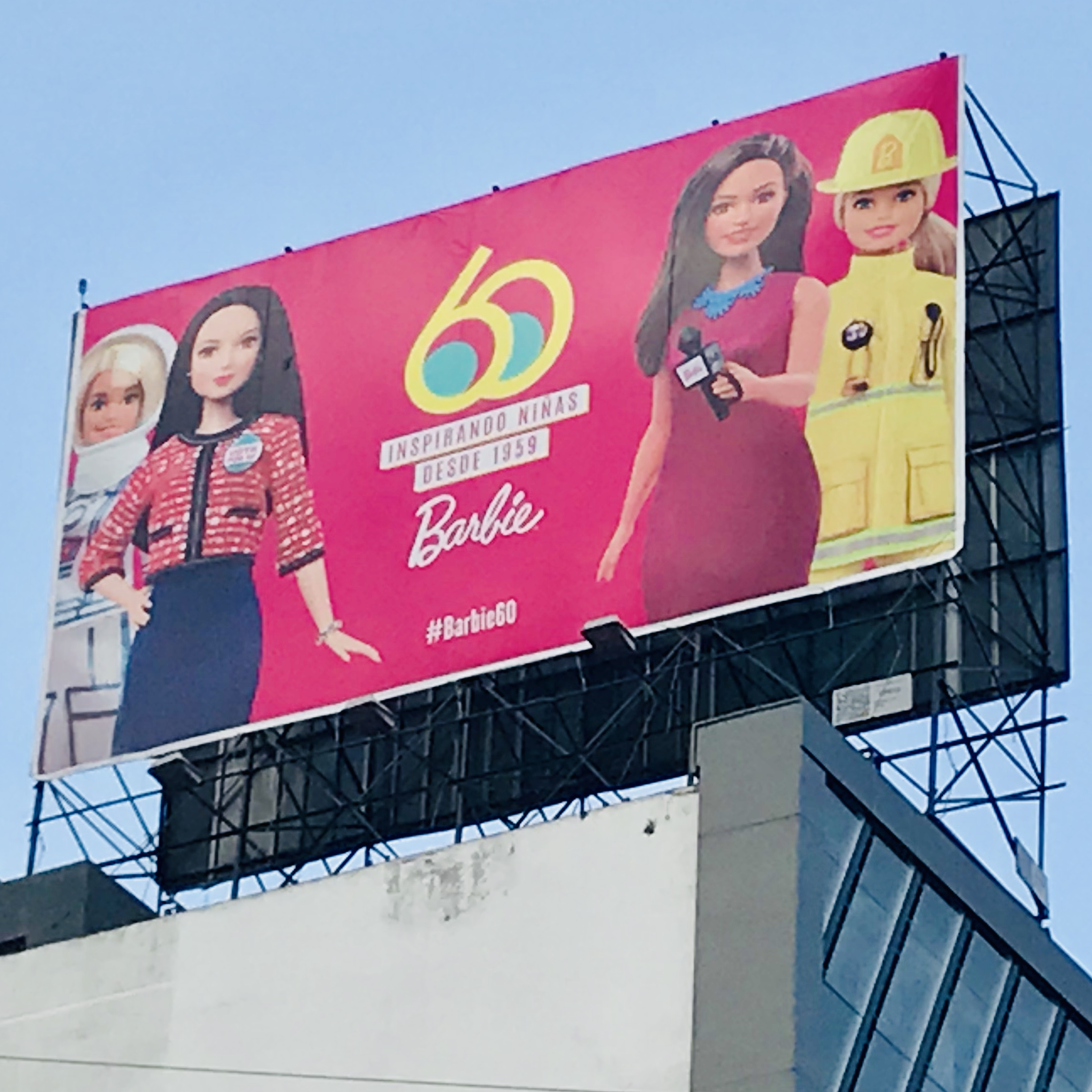 Researching while traveling in Mexico City in April 2019…Barbie seemed to be everywhere I looked!