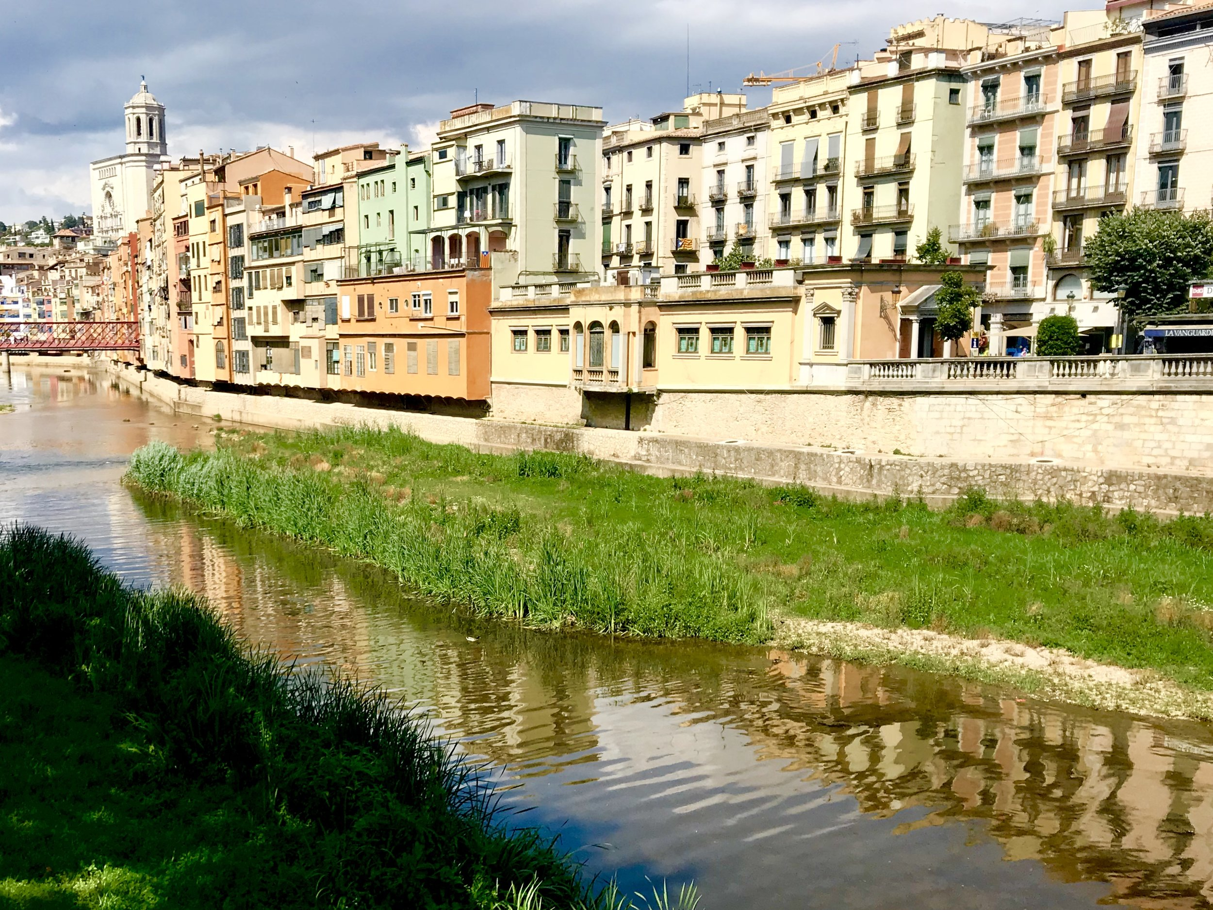 Classic day view of Girona along the Onyar River, one of three rivers here (like my home town of Pittsburgh, PA).