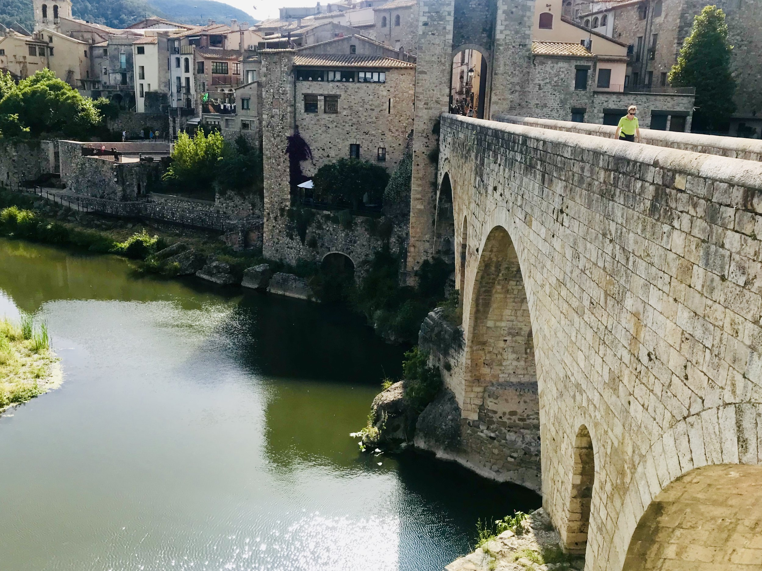 Here's the stunning Roman bridge in the historic and charming village of Besalu.