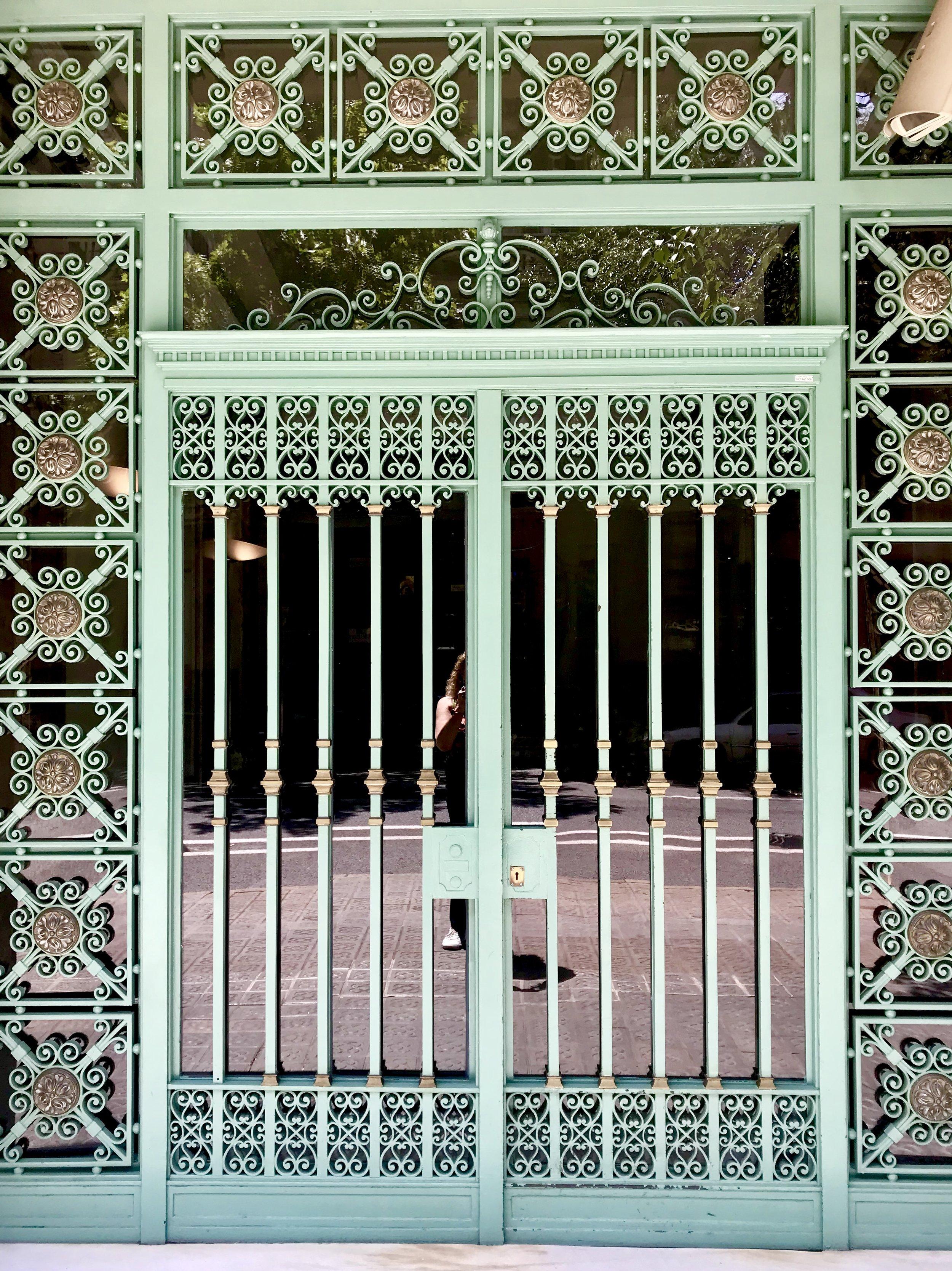Verdigris entryway