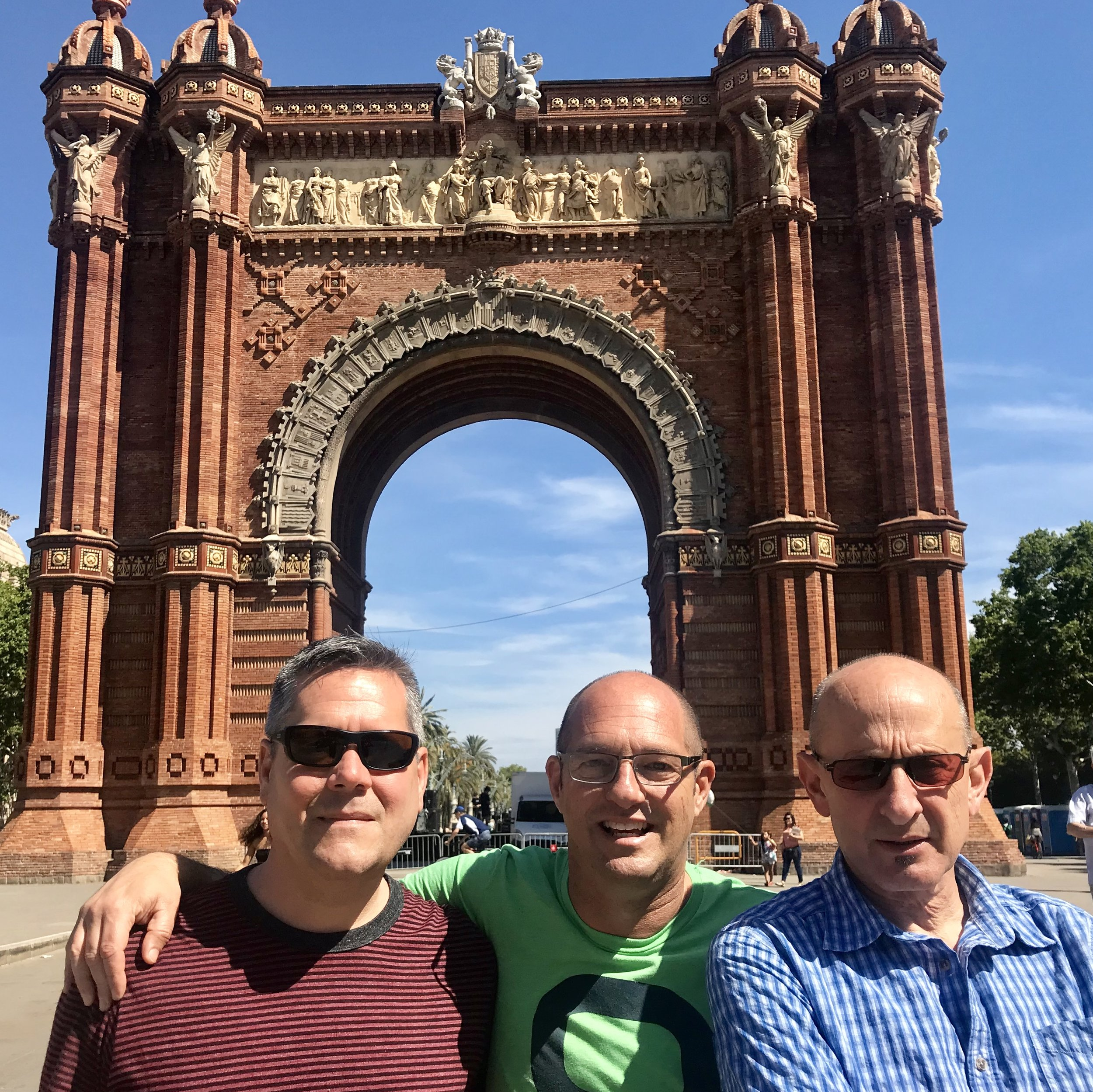David, Neal, & Jack at BCN's Arco de Triunfo.